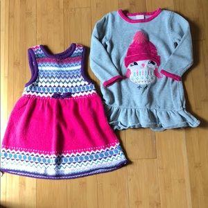 lot of 2 Gymboree sweater dresses 18-24M